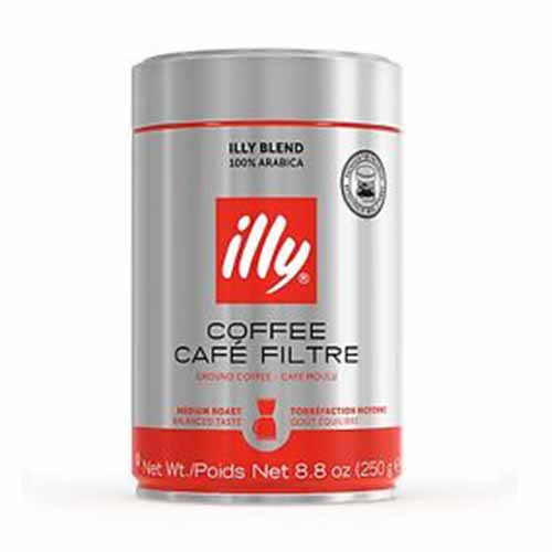ILLY GROUND COFFEE CAFE FILTRE MEDIUM ROAST 8.8oz