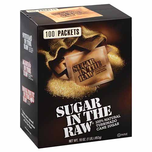 IN THE RAW TURBINADO CANE SUGAR 16oz 100 packets