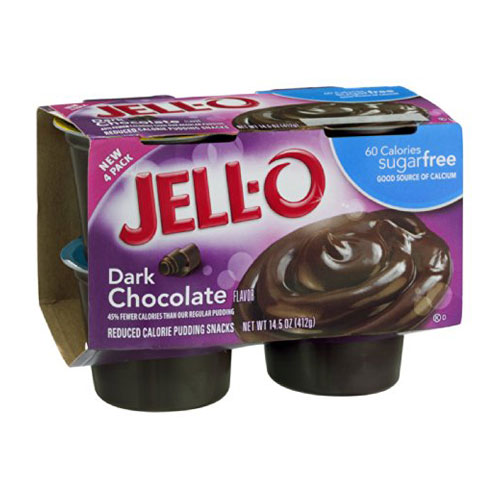 JELLO PUDDING CHOCOLATE 4pk