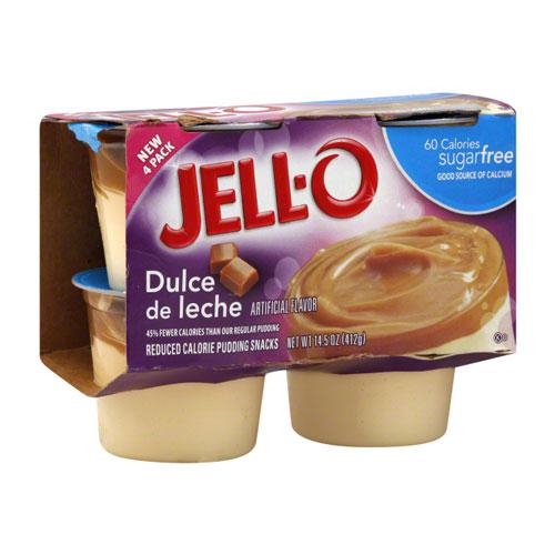 JELLO PUDDING DULCE DE LECHE 4pk