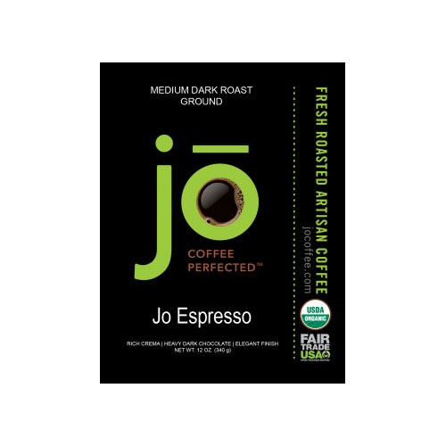 JO COFFEE JO ESPRESSO GROUND MEDIUM DARK ROAST 12oz