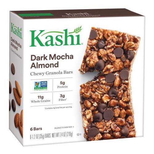 KASHI DARK MOCHA CHOCOLATE CHEWY GRANOLA BARS 6-1.2oz