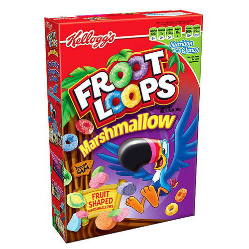KELLOGG'S CEREAL FROOT LOOPS MARSHMALLOW 10.5oz