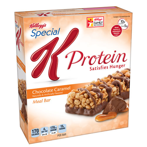 KELLOGG'S SPECIAL K PROTEIN MEAL BARS CHOCOLATE CARAMEL 6-1.59oz
