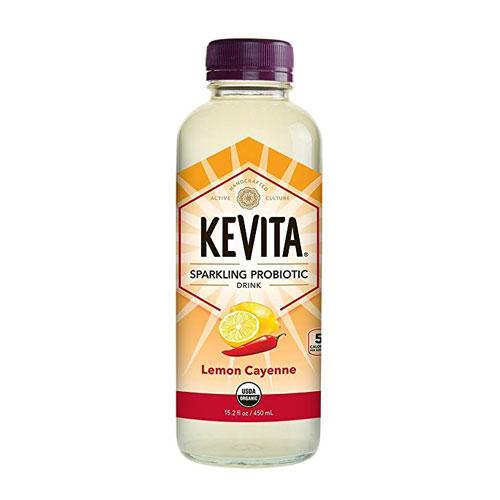 KEVITA SPARKLING PROBIOTIC DRINK LEMON CAYENNE 15.2oz