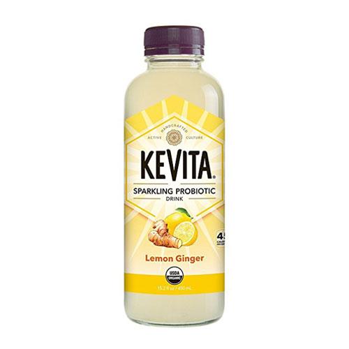 KEVITA SPARKLING PROBIOTIC DRINK LEMON GINGER 15.2oz