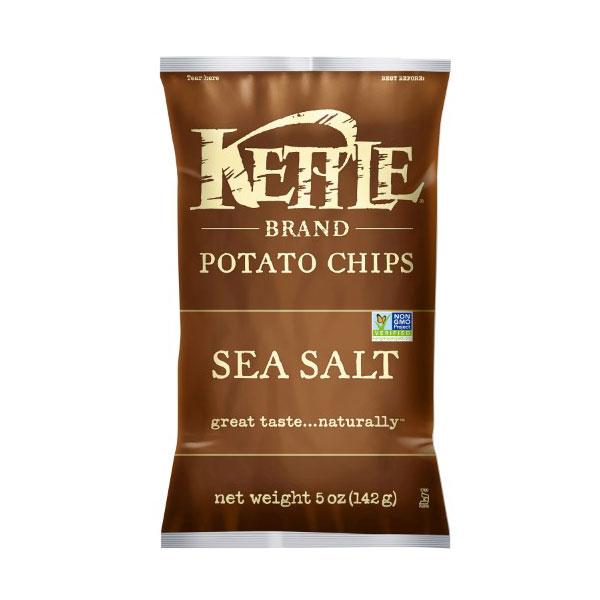 KETTLE POTATO CHIPS SEA SALT 5oz