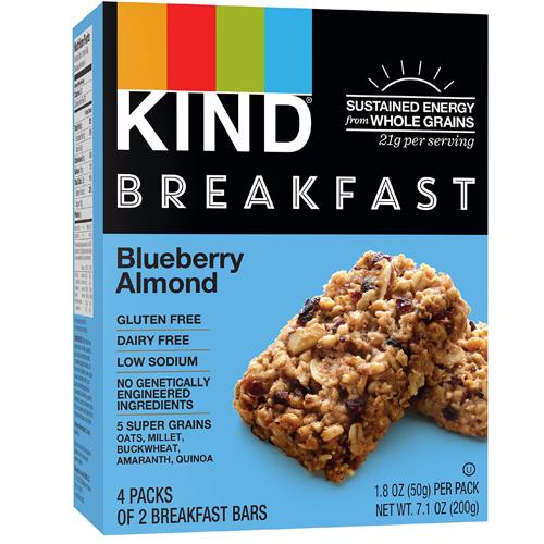 KIND BREAKFAST BLUEBERRY ALMOND BARS 4-1.8oz