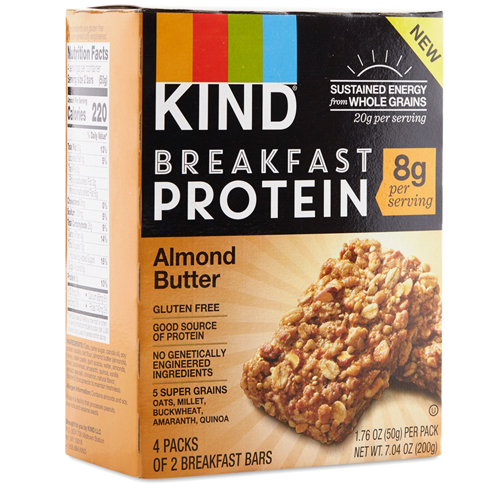 KIND BREAKFAST PROTEIN ALMOND BUTTER BARS 4-1.76oz