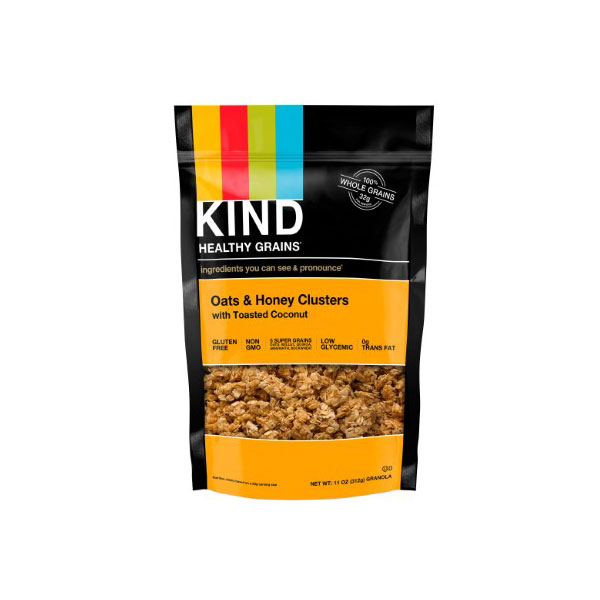 KIND GRANOLA GLUTEN FREE OATS & HONEY WITH TOASTED  COCONUT 11oz