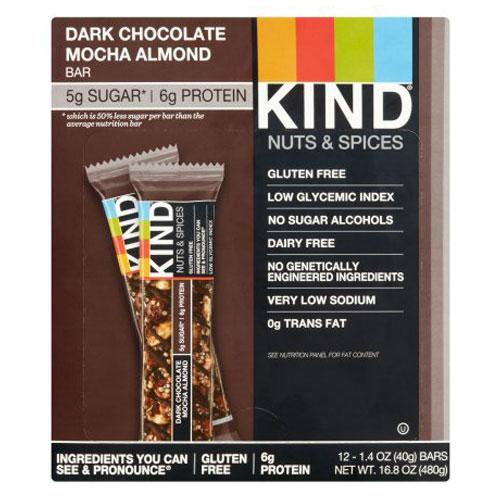 KIND NUTS & SPICES BAR DARK CHOCOLATE MOCHA ALMOND 1.4oz