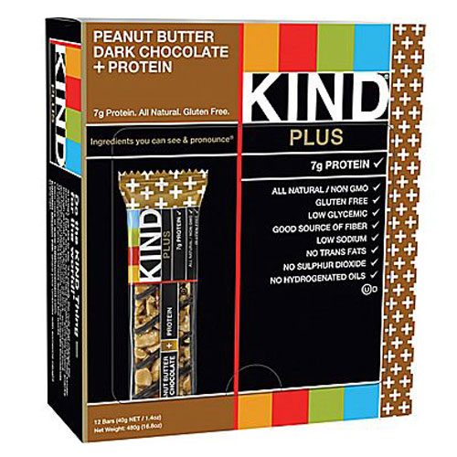 KIND PLUS BAR PEANUT BUTTER DARK CHOCOLATE + PROTEIN 1.4oz
