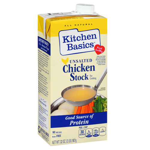 KITCHEN BASIC UNSALTED CHICKEN STOCK 32oz