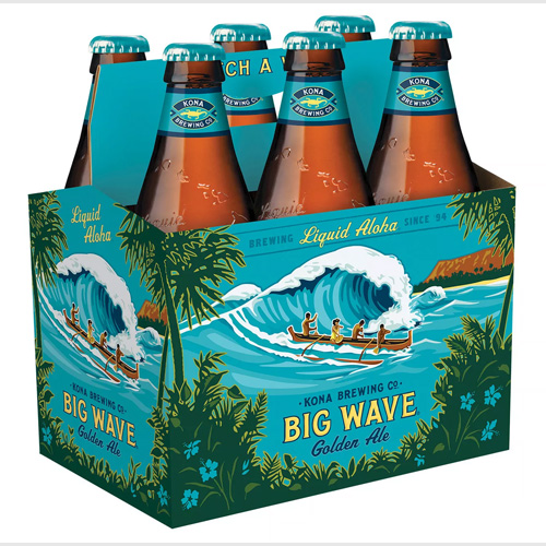 KONA BREWING GOLDEN ALE BIG WAVE 12oz 6pk.