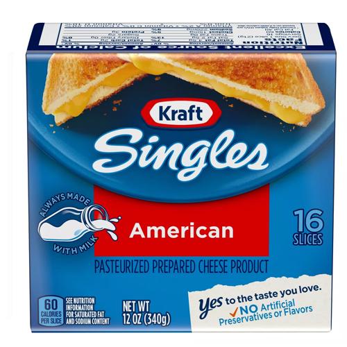 KRAFT SINGLES AMERICAN 12oz 16pc.