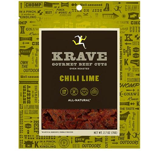 KRAVE GOURMET BEEF CUTA CHILI LIME 2.7oz