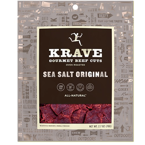 KRAVE GOURMET BEEF CUTS SEA SALT ORIGINAL 2.7oz