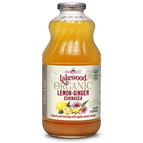 LAKEWOOD ORGANIC JUICE  LEMON GINGER  ECHINACEA 32oz
