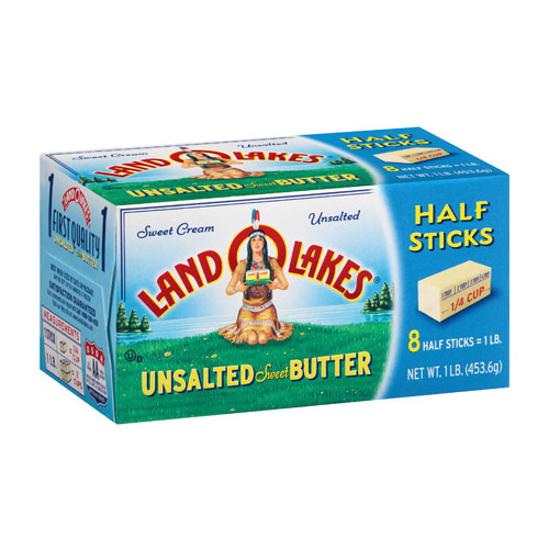 LAND O LAKES BUTTER UNSALTED HALF STICK 1lbs