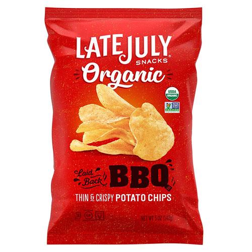 LATE JULY ORGANIC POTATO CHIPS BBQ 5oz.