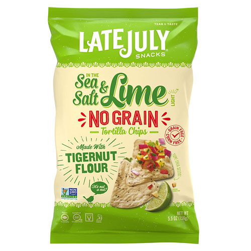 LATE JULY TORTILLA CHIPS NO GRAIN SEA SALT & LIME 5.5oz