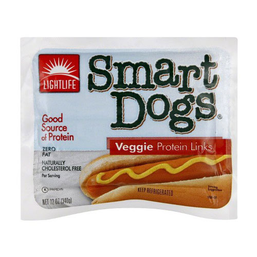 LIGHT LIFE VEGAN VEGGIE PROTEIN  DOGS VEGGIE 12oz