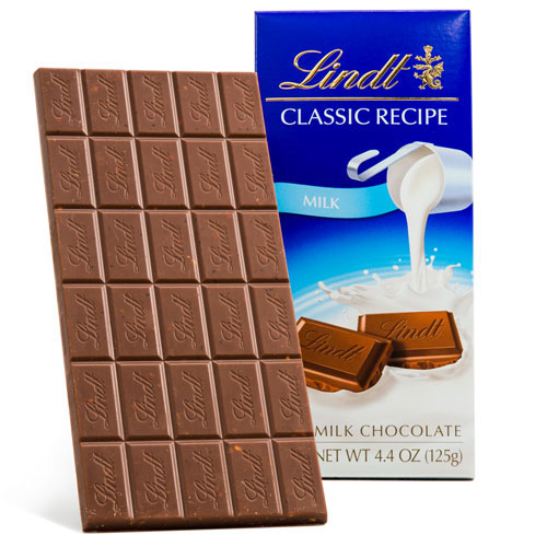 LINDT CLASSIC RECIPE MILK CHOCOLATE 4.4oz