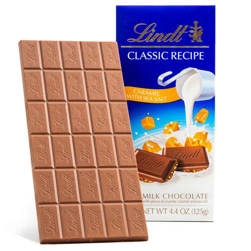 LINDT CLASSIC RECIPE MILK CHOCOLATE CARAMEL WITH SEA SALT 4.4oz