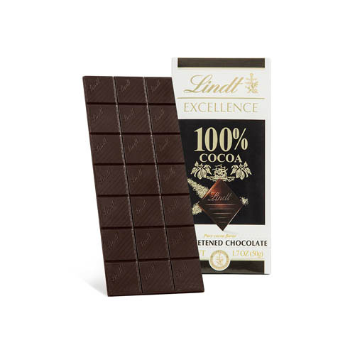 LINDT EXCELLENCE DARK CHOCOLATE 100% 3.5oz