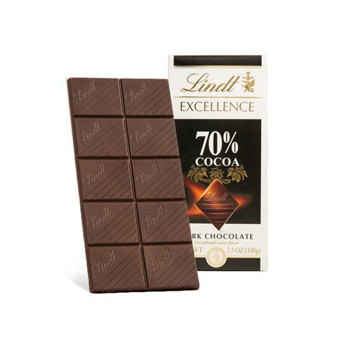 LINDT EXCELLENCE DARK CHOCOLATE 70% 3.5oz