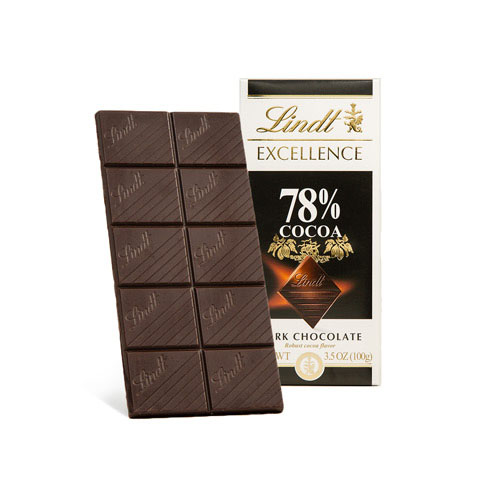LINDT EXCELLENCE DARK CHOCOLATE 78% 3.5oz