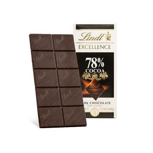 LINDT EXCELLENCE DARK CHOCOLATE 78% 3.5oz