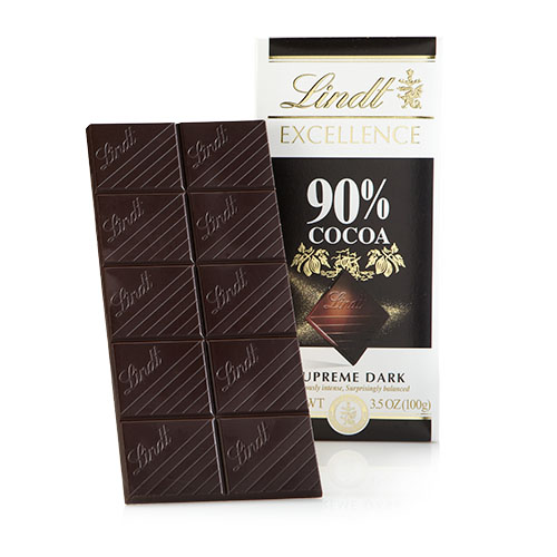LINDT EXCELLENCE DARK CHOCOLATE 90% 3.5oz