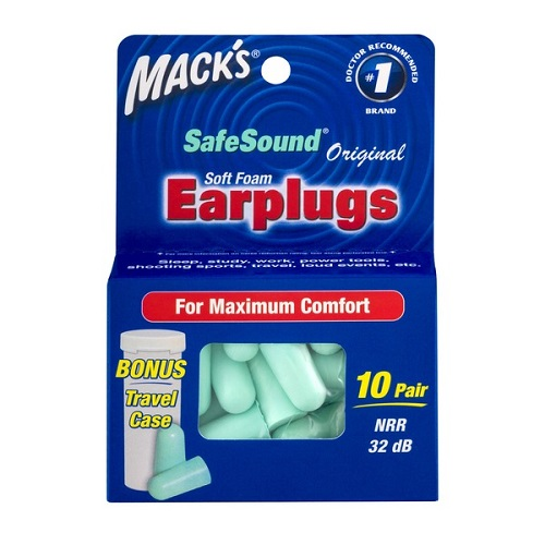 MACK'S SOFT FOAM EARPLUGS 10pair