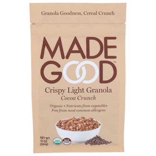 MADE GOOD CRISPY LIGHT GRANOLA COCOA CRUNCH 10oz