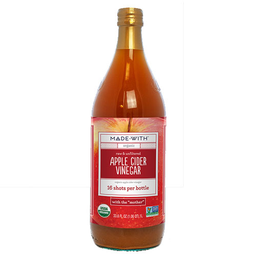 MADE WITH ORG APPLE CIDER VINEGAR RAW UNFILTERED 33.80oz