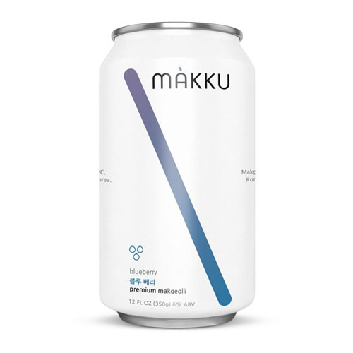 MAKKU KOREAN RICE BEER BLUEBERRY 12oz 4pk
