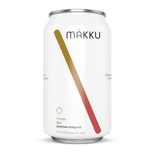 MAKKU KOREAN RICE BEER MANGO 12oz 4pk