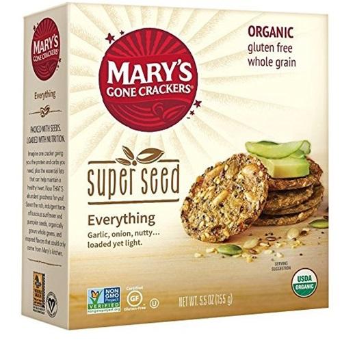 MARY'S ORGANIC SUPER SEED CRACKERS GLUTEN FREE VEGAN EVERYTHING 5.5oz
