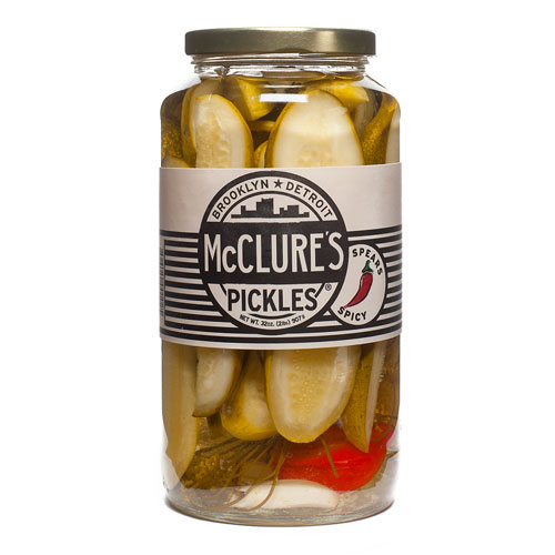 MCCLURES PICKLES SPICY 32oz