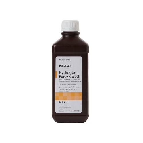 MCKESSON HYDROGEN PEROXIDE ANTISEPTIC 3% 16oz