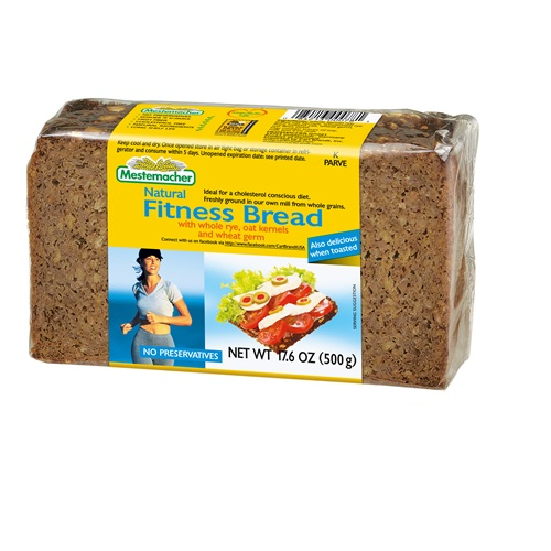 MESTEMACHER NATURAL FITNESS BREAD WITH WHOLE RYE, OAT KERNELS & WHEAT GERM 17.6oz