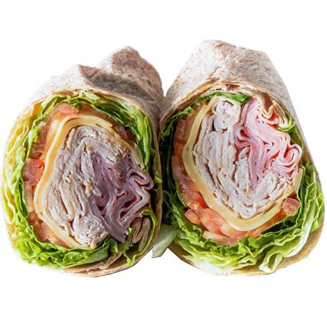 Monte Cristo Wrap  (Ham, Smoked Turkey, Swiss Cheese, Lettuce, Tomato, Honey Mustard )
