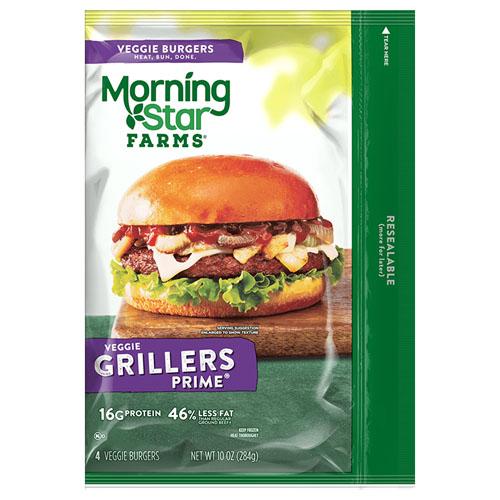 MORNING STAR FARMS GRILLERS PRIME VEGGIE BURGER 10oz