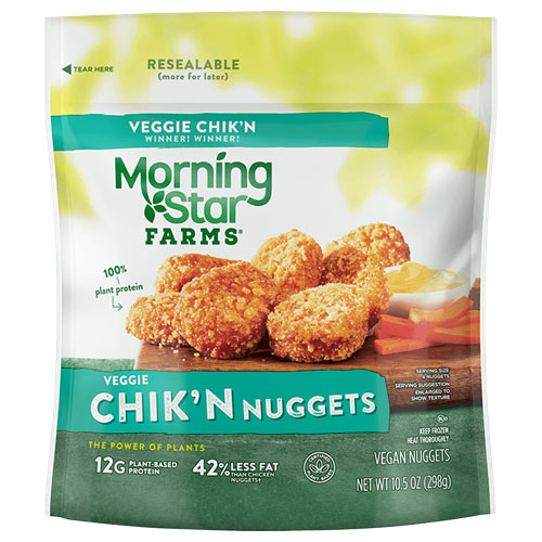 MORNING STAR FARMS VEGGIE CHIK'N NUGGETS 10.5oz