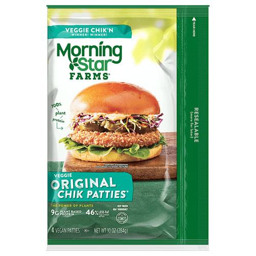 MORNING STAR FARMS VEGGIE ORIGINAL CHIK PATTIES 10oz