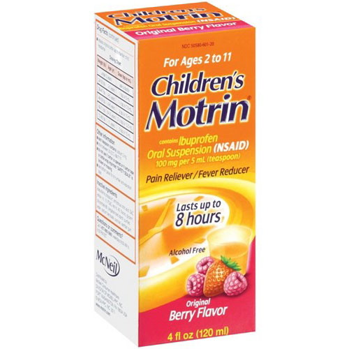 MOTRIN CHILDREN'S PAIN RELIEVER BERRY FLAVOR 4oz
