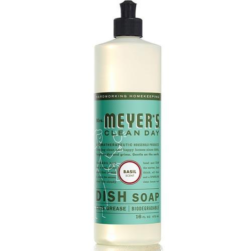MRS. MEYERS CLEAN DAY DISH SOAP BASIL 16oz