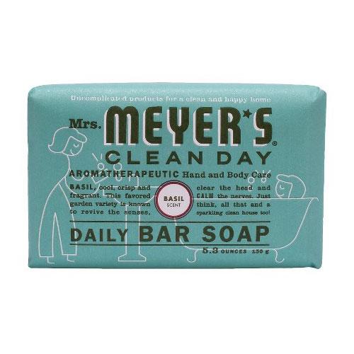 MRS MEYERS  SOAP BAR BASIL 5.3oz