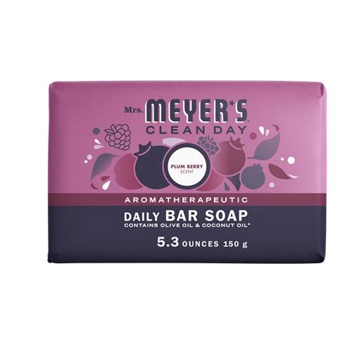 MRS MEYERS  SOAP BAR PLUM BERRY 5.3oz